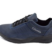 Распродажа!!! Кроссовки мужские Columbia 811 синие (реплика)