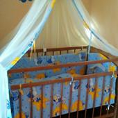Бортики и матрас для детской кроватки и