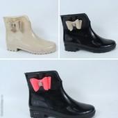 Новинка - резиновые ботинки Польша в наличии