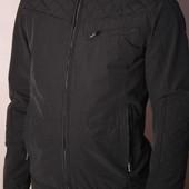 Куртка-ветровка цвета торфа Solid, р.S