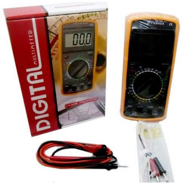 Профессиональный цифровой мультиметр тестер dt-9207а качество! + щупы + термопара + крона! фото №1
