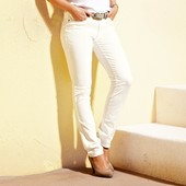Джинсы с вышивкой кремовые М, L, XL, xxl брюки женские tcm tchibo