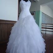 Свадебное платье , б/у 42р.-44 р.в