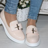 Туфли Лоферы спереди бантик