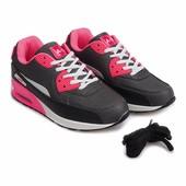 Женские кроссовки черного-розового цвета