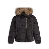Куртка демисезонная черная с мехом