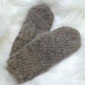 Мужские рукавицы из собачьей шерсти рукавички теплые
