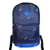 Молодежный современный рюкзак Синего цвета с синей вышивкой (S-06)