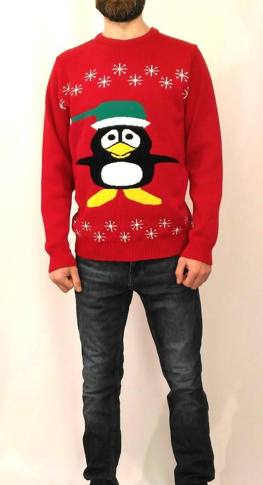 832 новогодний свитер с пингвином kingston фото №1