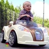 Электромобиль детский, спортивный кабриолет 12V, 45W,