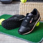 Мужские кроссовки черные 12614