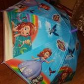 Зонтики София Фрозен  66 см полуавтомат