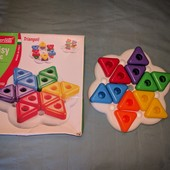 Мозаика Quercetti Daisy Basic Triangoli треугольники для самых маленьких.