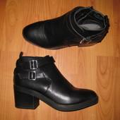 рр 39 фирменные ботинки кож зам на среднем каблуке Atmosphere
