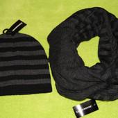 Мужской комплект шапка шарф C&A