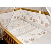 защита для детской кроватки защитное ограждение в детскую кроватку из 2 частей бортики бампер бортик