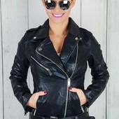 Демисезонная куртка косуха под кожу женская