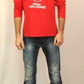 888 Красная футболка с длинным рукавом