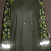 Прорезиненая куртка, дождевик Jako-O на флисовой подкладке, унисекс, 158-164 рост.