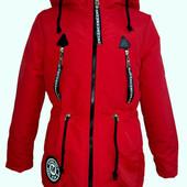 Куртка-парка демисезонная, модная для девочек от 34 до 42р-Новинка-5 цветов