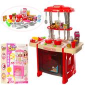 Детская кухня со светом и звуком , розовая и красная