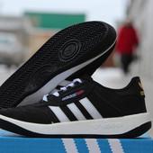 Мужские кроссовки Адидас черно белые, Adidas