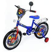 """Велосипед Супермен 16"""", синий с красным"""