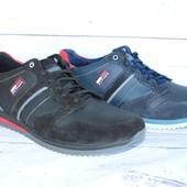 Мужские кожаные кроссовки, демисезонные, 2 цвета