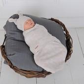 Летняя пеленка кокон на молнии или на липучке для новорожденных