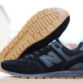 Кроссовки New Balance 574  capen чорні в замші