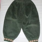 штаны вельветовые на 12-18 мес