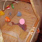 Постельный комплект,одеяло, подушка, балдахин, защита, держатель балдахина, карусель