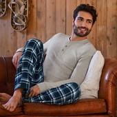 мужские пижамные фланелевые брюки от тсм tchibo