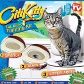 Система приучения кошек и котов к унитазу Citi Kitty cat, приучение на унитаз