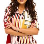 Размеры 42-48 Яркая весенняя женская шифоновая блуза