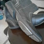 Шикарные новые кожаные ботинки от fire trap на низкий подъем