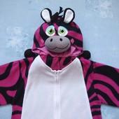 Флисовый карнавальный костюм Зебра на 11-12 лет, б/у. Отличное состояние, без дефектов.  Длина от пл
