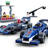 Конструктор Sluban Формула 1 Гран-при 287 деталей, 5 человечков, 2 машинки (M38-B0355)