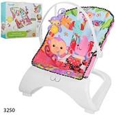 Шезлонг качалка Бемби 3250 детский с вибро режимом Bambi кресло 3251
