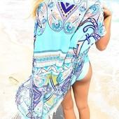 туника женская ХИТ- продаж 2017 года-пляжная-купальник женский- платье парео сарафан шляпа от солнца