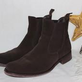 43 29,5см Pertini Замшевые кожаные ботинки челси