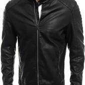 Мужская демисезонная куртка из эко-кожи