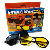 Антибликовые и солнцезащитные очки для водителя Smart View Elite 2 шт