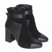 Демисезонные ботинки, черного цвета, ТМ Nivelle