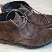 Clarks 43р ботинки Оригинал. Замшевая кожа.