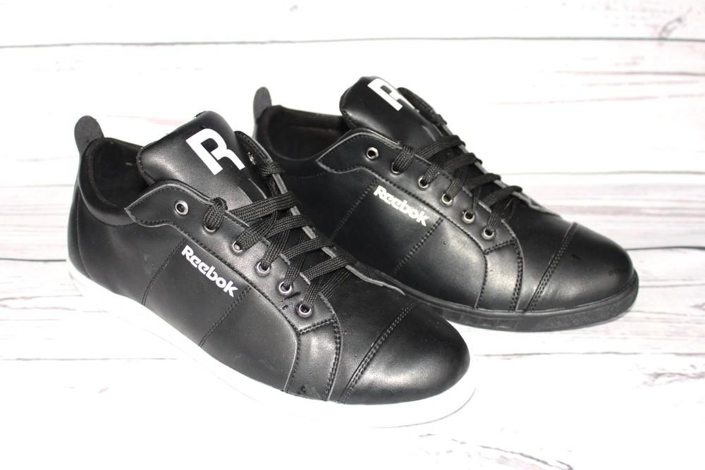 Кожаные кроссовки в стиле Reebok, мужские фото №1
