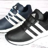 Мужские кожаные кроссовки в стиле Adidas, 2 цвета