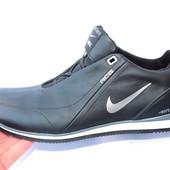 Мужские кожаные кроссовки в стиле Nike, 3 цвета