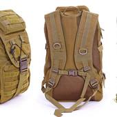 Рюкзак тактический штурмовой - 35 л - черный.