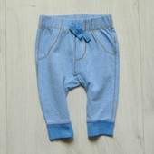 Стильные трикотажные штаники для маленького модника. George. Размер 0-3 месяца
